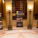 Banners on display