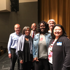 Nadine Graves with GARE, Voices for Racial Justice, and Nexus Community Partners at GARE MN's Organizing for Power: Inside and Outside Strategies Speakers Series. Photo courtesy of GARE